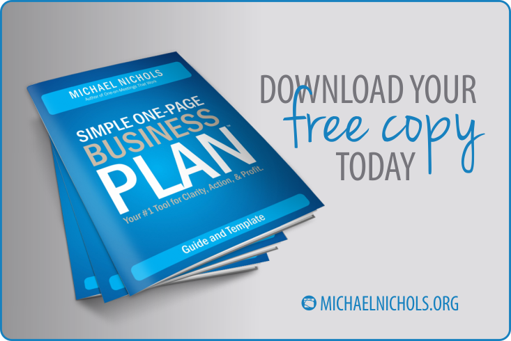 The SIMPLE One-Page Business Plan - Template | Michael Nichols