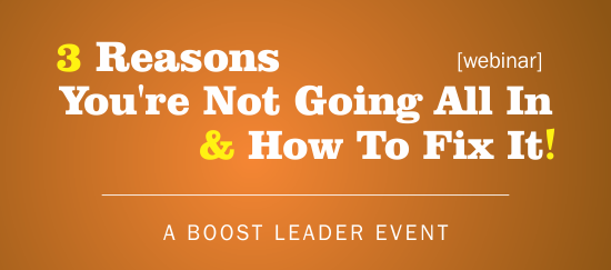 Boost Leader Summit Webinar