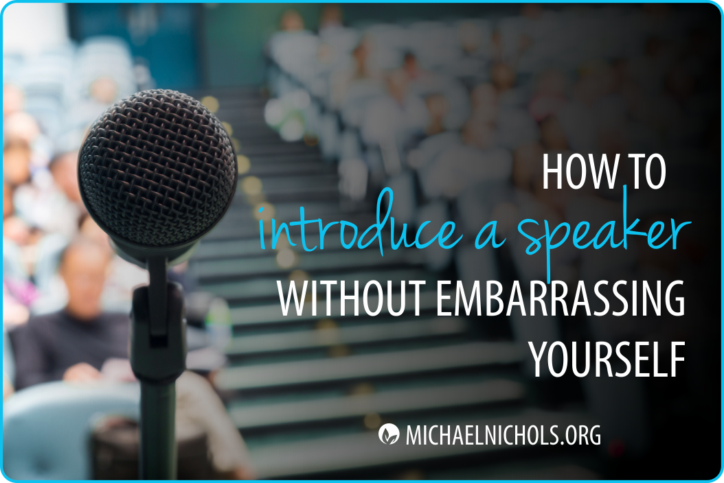 Keynote Speaker How To Introduce Them Without